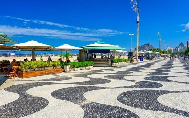 Calçadão da Praia de Copacabana, onde há cercadinho VIP