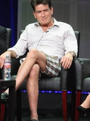 Charlie Sheen durante o Summer TCA Tour neste final de semana