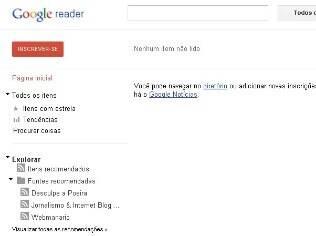 Novo visual do Google Reader lembra última versão do Calendário e do Docs