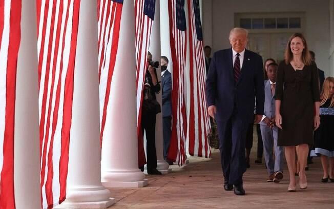 Parte do evento também aconteceu dentro da Casa Branca.