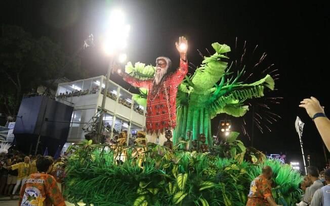 Desfile da Beija-Flor de Nilópolis na Sapucaí. Foto: André Freitas/AgNews