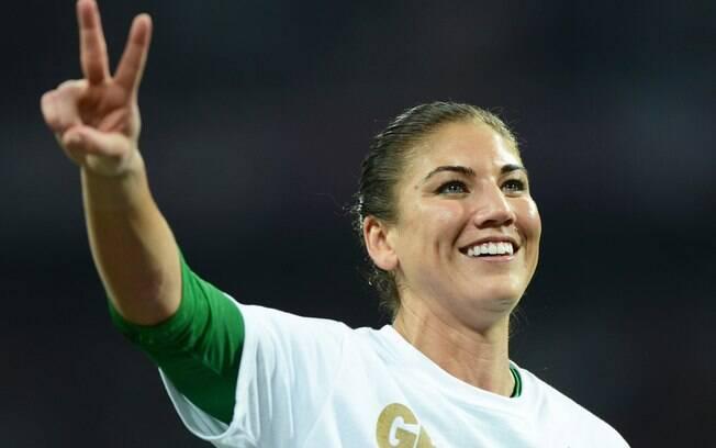 Hope Solo faturou ouro com seleção feminina  de futebol dos EUA nas Olimpíadas de Londres