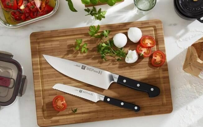 Faca recomendada para cortar frutas e legumes