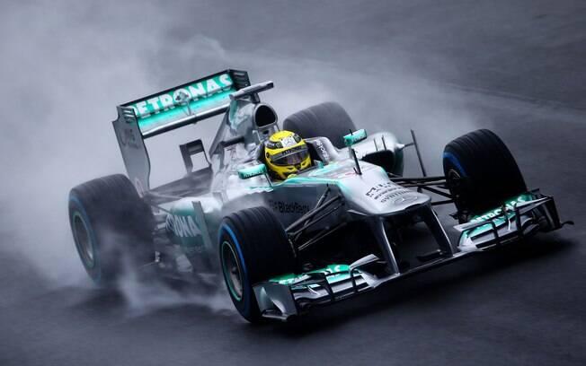 Nico Rosberg, da Mercedes, terminou Q1 na  primeira posição e não gostou da suspensão do  treino
