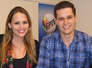 Pedro Leonardo e Aline Lima, apresentadores do 'Rota 35'
