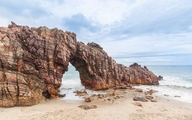 A Praia de Pedra Furada é outra das mais lindas de Jijoca de Jericoacoara