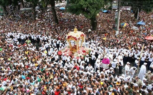 Milhares de fiéis, turistas e romeiros, participam da celebração do Círio de Nazaré, em Belém, considerado Patrimônio Cultural da Humanidade desde 2013
