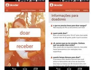 Gratuito e disponível para Android e iOS, aplicativo Blooder conecta doadores e receptores de doações de sangue