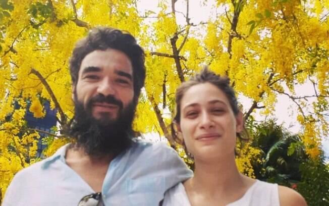Caio Blat e namorada, Luísa Arraes, em foto rara juntos no Instagram