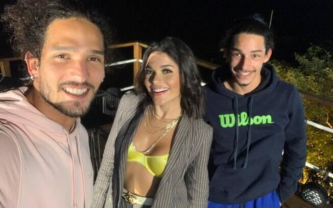 Lary com João e Pedro Zoli