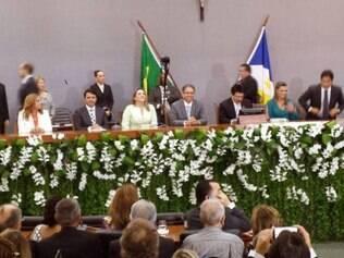 Marcelo Miranda foi ao plenário da Assembleia Legislativa para a cerimônia de posse do seu 3° mandato