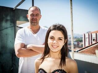 Rogério e a filha, Letícia: