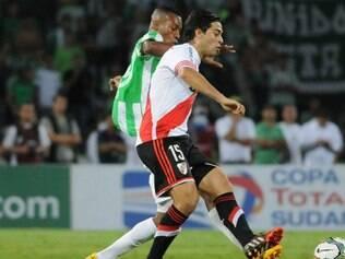 O Nacional de Medellín abriu o placar aos 34 minutos do primeiro tempo, mas o time argentino conseguiu o empate na etapa complementar