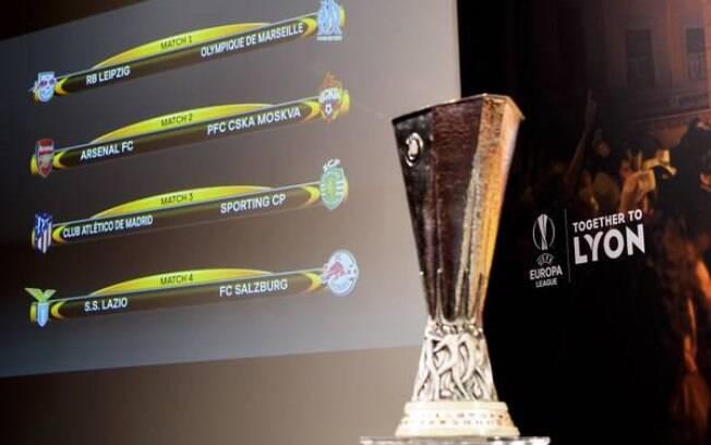 Sorteio das quartas de final da Liga Europa na sede da Uefa, na Suíça