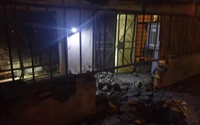 foto do ataque ao Iraque no sábado