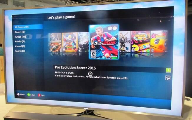 Parceria com a Playcast leva jogos famosos para a TV com Tizen da Samsung. Foto: Emily Canto Nunes/iG São Paulo