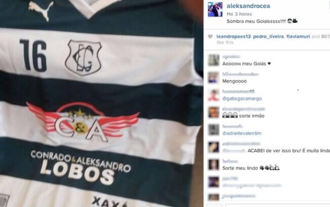 Outra dupla sertaneja, Conrado e Aleksandro, cavou espaço no uniforme do Goiás