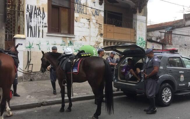 Policiais da Cavalaria da PM durante ação no centro de São Paulo