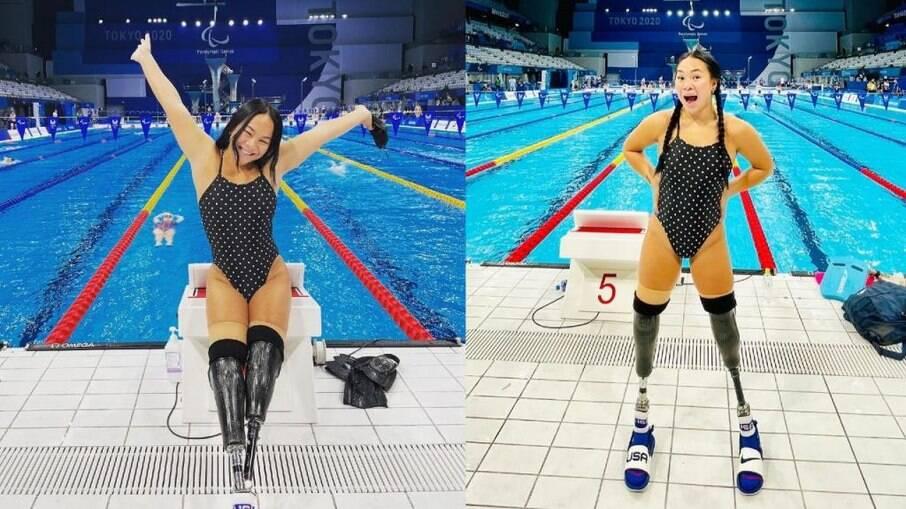 Haven é nadadora paralímpica