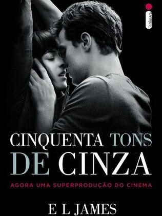 A nova capa do novo livro 'Cinquenta Tons de Cinza', com imagem do pôster do filme
