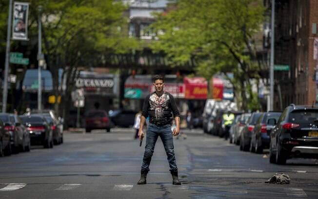 Jon Bernthal em cena da segunda temporada de O Justiceiro