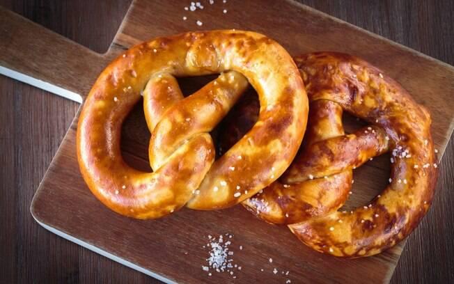 Pretzels são tradicionais para o café da manhã germânico