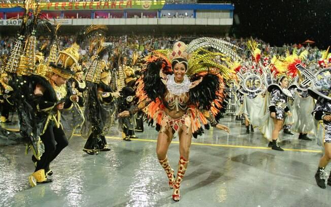 A Vai-Vai falou sobre a cidade de Paulínia - primeira noite de desfiles em São Paulo. Foto: Divulgação/SPTuris