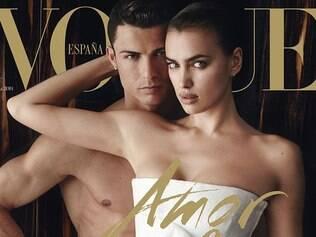 Revista divulgou capa da publicação de junho, em que o português e a namorada posaram juntos pela primeira vez