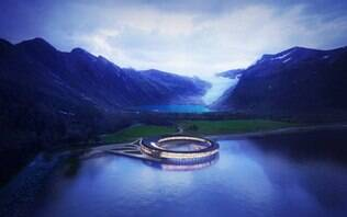 """Aos pés de uma geleira, hotel na Noruega quer ser """"o mais sustentável do mundo"""""""