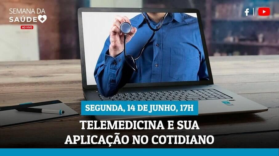 Semana da Saúde: live explicará uso da teleconsulta nesta segunda-feira (14)