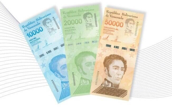 A nova cédula de 50 mil bolívares soberanos supera o valor do salário mínimo na Venezuela, atualmente em US$ 6,50