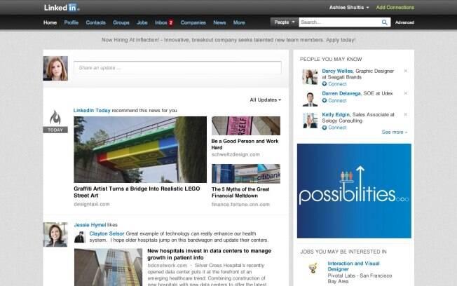 LinkedIn apresenta nova versão do site, mais parecida com design para dispositivos móveis