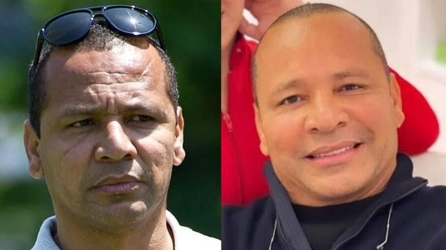 Neymar Pai. Da esquerda para direita: antes e depois