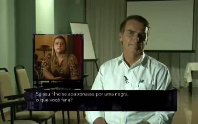 Preta Gil e Bolsonaro interagindo no