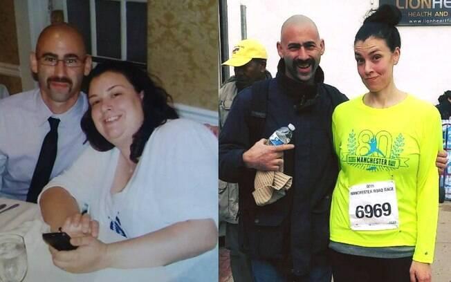 Após um ano controlando os carboidratos e apenas caminhando, a americana Emily Puglielli conseguiu emagrecer 46kg