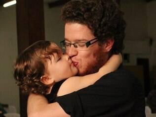 Rodolfo e a filha Valentina: