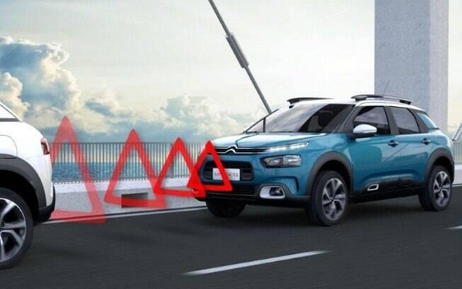 Entre os itens que estarão disponíveis no novo SUV Citroën C4 Cactus, haverá alerta para colisão iminente