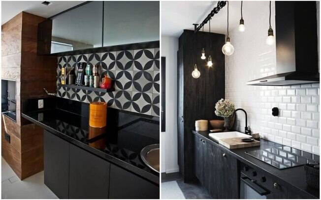 Apesar de ser um tom ousado para se usar na decoração, o preto voltou com tudo - especialmente quando utilizado em pias