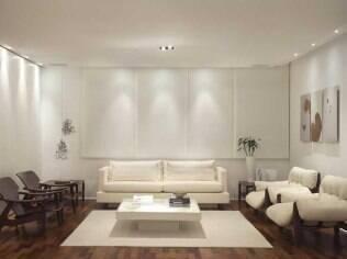 Cores suaves e mobiliário de bom gosto imperam na casa do libriano. Projeto de Carla Dichy