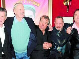 Clube dos cinco. Michael Palin, John Cleese, Terry Jones, Terry Gilliam e Eric Idle ainda fazem rir.
