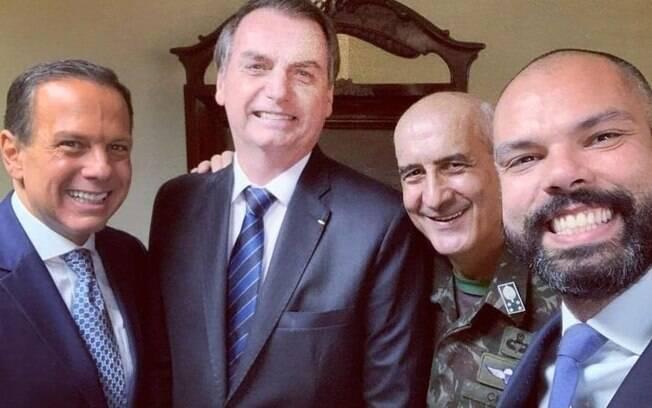 Bruno Covas, Jair Bolsonaro e João Doria
