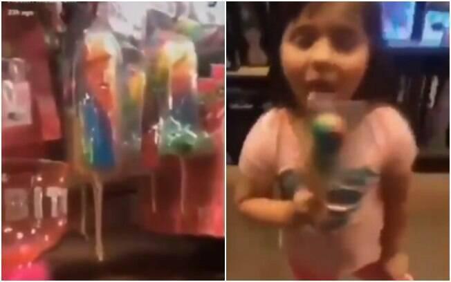 Família de youtubers causou polêmica nas redes sociais por levar criança a sex shop e comprar pirulito em forma de pênis