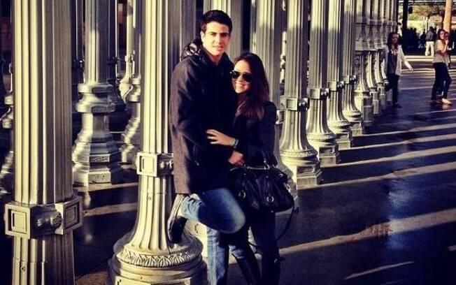 Enzo e Rafaella nos Estados Unidos, onde a jovem está morando
