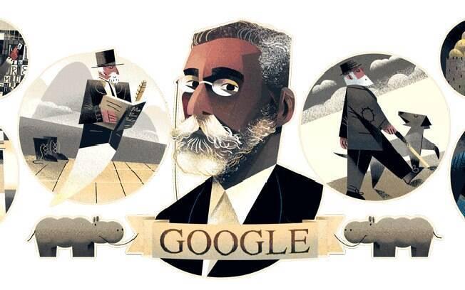 Google faz homenagem a Machado de Assis no doodle do dia