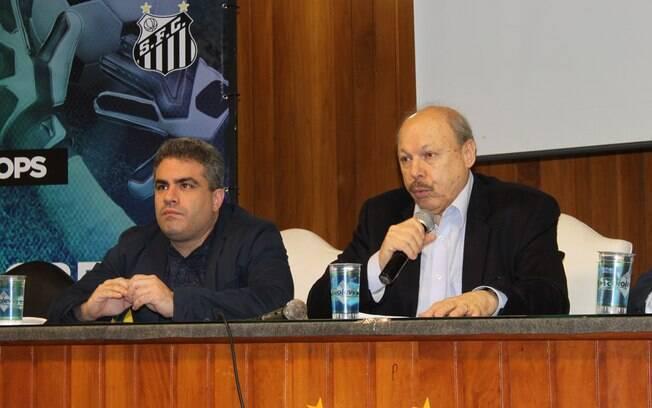 Orlando Rollo, vice, e José Carlos Peres, presidente do Santos, ainda fazem parte do Comitê de Gestão