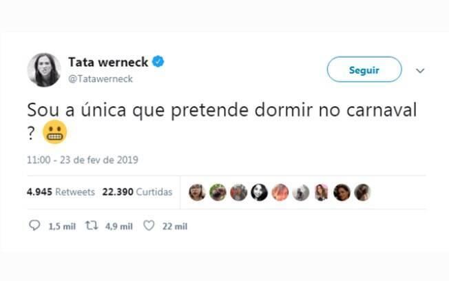 Tuite de Tatá Werneck