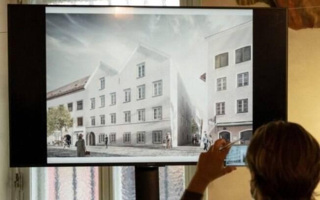Uma ilustração mostra como será a antiga casa de Adolf Hitler em Braunau am Inn, na Áustria