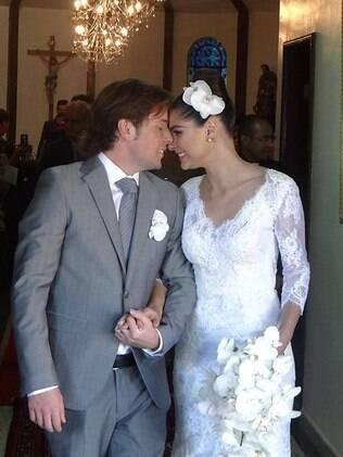 Fernanda Machado se casou com o americano Robert Riskin
