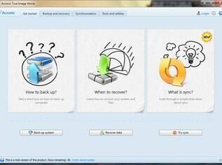 Software da Acronis é fácil de usar