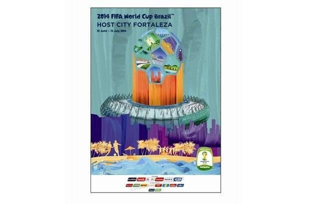 Fortaleza-CE - Pôster oficial da Copa do  Mundo de 2014